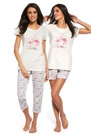 3dílný set dámského pyžama Flaming