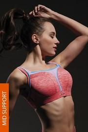 Sportovní podprsenka Flow Pink s kosticemi