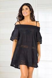 Dámské italské plážové šaty Iconique IC800 Black