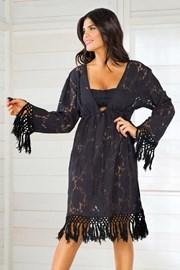 Dámské italské letní šaty Iconique IC8010 Black