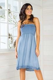 Dámské italské letní šaty Iconique IC8036 Jeans