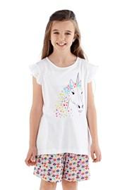 Dívčí pyžamo Polly krátké bílé