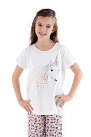 Dívčí pyžamo Polly dlouhé bílé