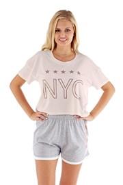 Dámské pyžamo NYC růžové