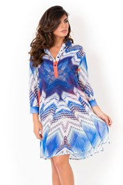 Dámské italské košilové šaty Miradonna Beach