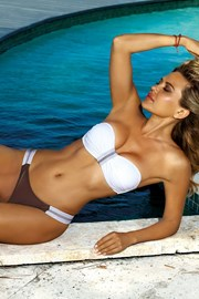 Dámské dvoudílné plavky Acapulco bílo-hnědé