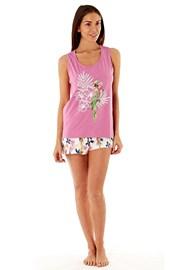 Dámské bavlněné pyžamo Parrot Pink krátké