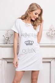 Dámská noční košile Queen bílá