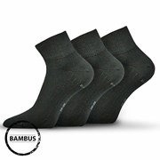 3pack ponožek Raban černá bambus