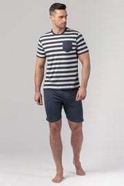 Pánské pyžamo RÖSSLI Navy Stripes