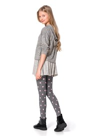 Dívčí bavlněné punčocháče Sherry šedé