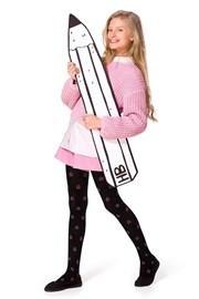 Dívčí bavlněné punčocháče Solana černé