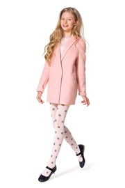 Dívčí bavlněné punčocháče Solana růžové