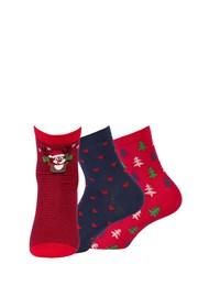 3 pack dámských vzorovaných ponožek 999