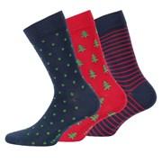 3 pack pánských vzorovaných ponožek 999