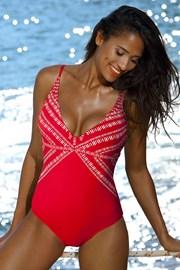 Dámské jednodílné plavky Yalia Red