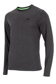 Pánské tričko 4F šedé dlouhý rukáv