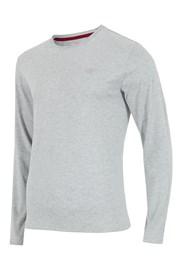 Pánské tričko 4F šedá dlouhý rukáv