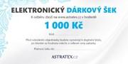 ELEKTRONICKÝ dárkový šek 1000 Kč