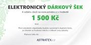 ELEKTRONICKÝ dárkový šek 1500 Kč