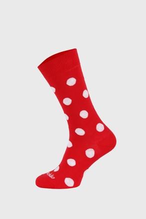 Шкарпетки Fusakle з горошком червоні