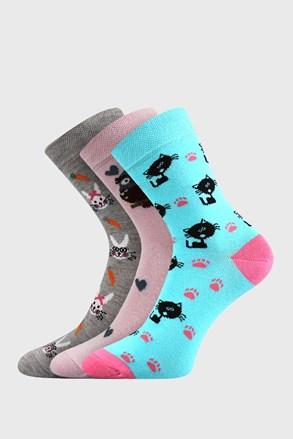 3 PACK dívčích ponožek Lovely