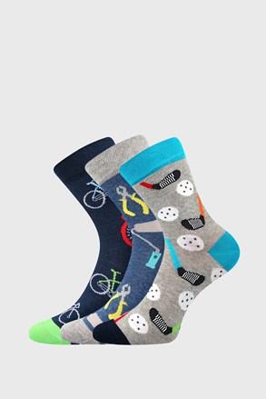 3 PACK chlapeckých ponožek Freetime