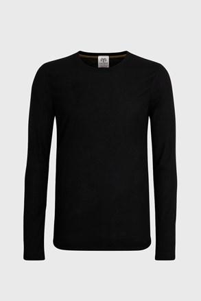 Męski T-shirt z długimi rękawami czarny