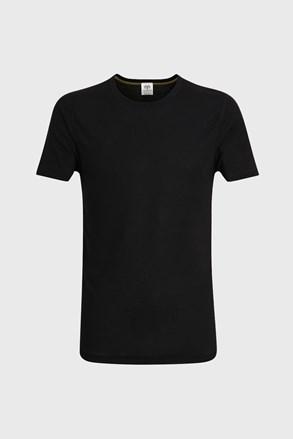 Rövid ujjú férfi póló, fekete