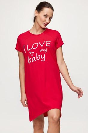 Mateřská kojicí  košilka Love baby