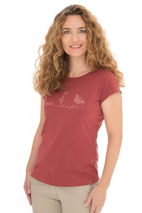Bushman Natalie piros női póló