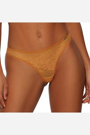 Tanga Gossard Glossies Lace žluté