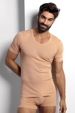 Тілесна футболка під сорочку поглинаюча піт