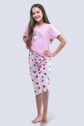 Dívčí pyžamo Cats růžové