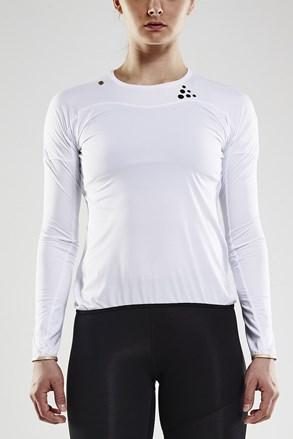 Tričko CRAFT Run Shade LS bílé