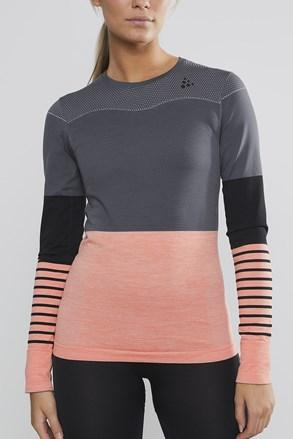 Dámské tričko Craft Fuseknit Comfort šedorůžové