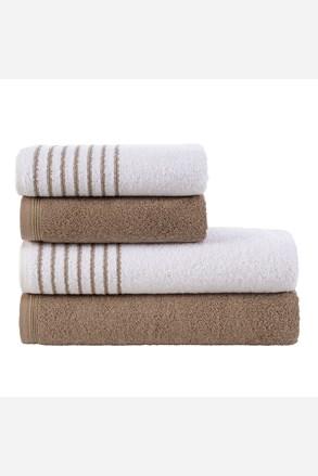 Sada ručníků a osušek Eleganza hnědá