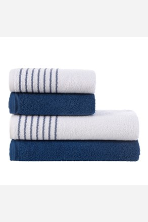 Sada ručníků a osušek Eleganza modrá
