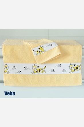 Dětský ručník Nora Myši světle žlutý