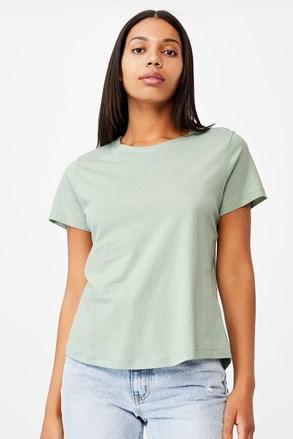 Dámské basic triko s krátkým rukávem Crew zelená