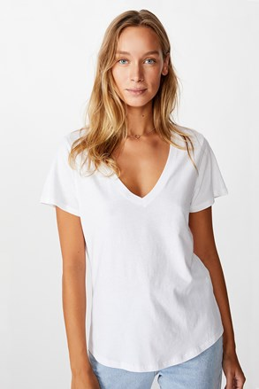 Dámské basic triko s krátkým rukávem One bílá
