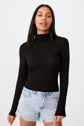 Dámské basic triko s rolákem Mila černá