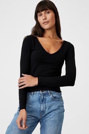 Dámské triko Everyday s dlouhým rukávem černé