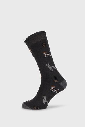 Tmavěšedé ponožky Fantasy