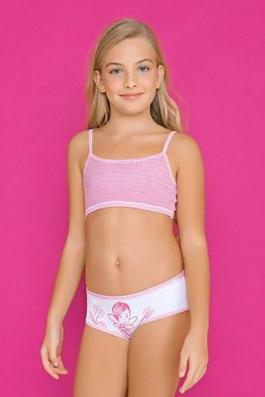 Fairy Pink lányka szett, top és lányka alsó