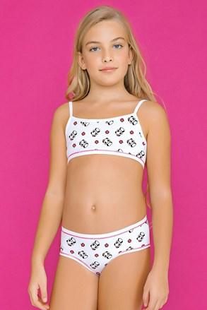 Dívčí komplet kalhotek a topu White Pandas