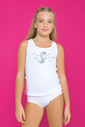 Dívčí komplet kalhotek a tílka Fairy modrý