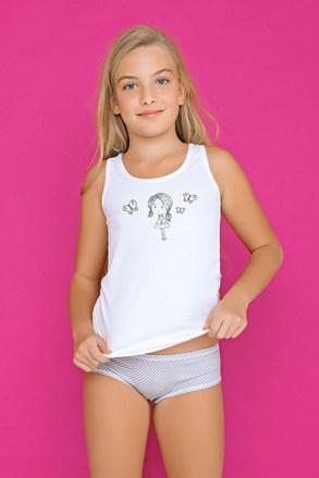 Dívčí komplet kalhotek a tílka Fairy šedý