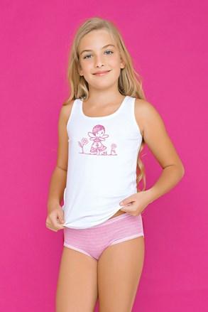 Dívčí komplet kalhotek a tílka Fairy růžový