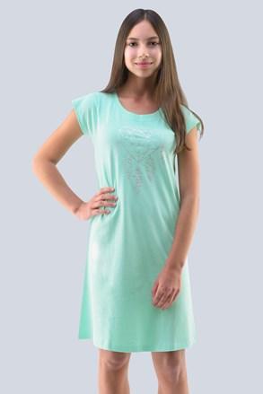 Dievčenská nočná košeľa Hearts pepermintová